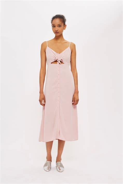 knot front midi dress dresses clothing topshop usa