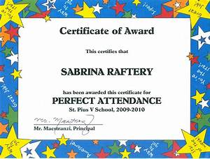 Perfect Attendance Certificate Template 100 Attendance Certificate Template Free Gallery Certificate Design And Template
