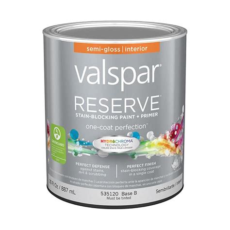 shop valspar reserve semi gloss interior paint and
