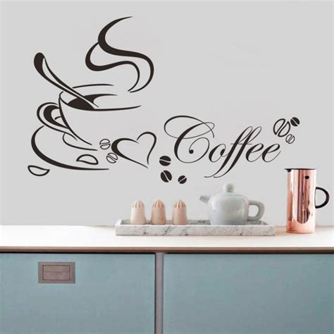 amazing 2015 removable kitchen decor sticker coffee cup