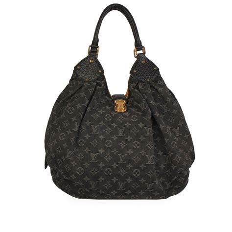 louis vuitton denim monogram xl bag black luxity