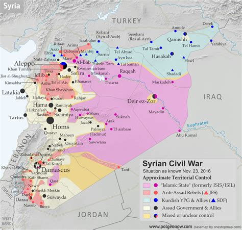 syrian civil war control map report november