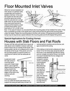 Central Vacuum Installation Manual Floor Mounted Valve