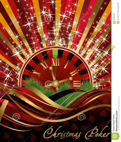 casino christmas background stock vector image 27891109