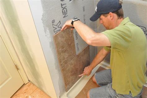 Bathroom Wall Lining Materials by How To Tile A Bathroom Shower Walls Floor Materials