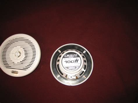Boat Speaker Set by Set Of 4 Clarion 6 5 Quot Boat Speakers Sold The Hull
