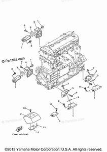 Yamaha Waverunner 2010 Oem Parts Diagram For Engine Mount