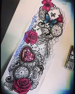 Tatoo Femme Bras : tatouage bras femme dentelle roses by tattoosuzette on deviantart ~ Farleysfitness.com Idées de Décoration