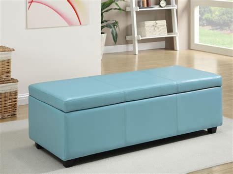 large storage ottoman bench amazon com simpli home avalon rectangular faux leather