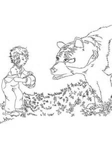 sal meets  bear coloring page super coloring