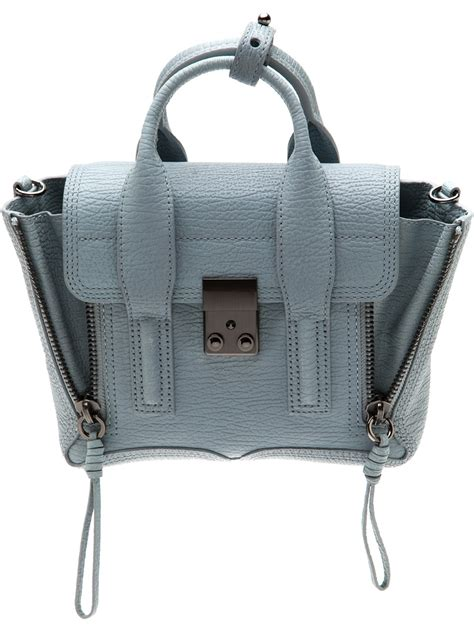 phillip lim pashli mini satchel  blue lyst