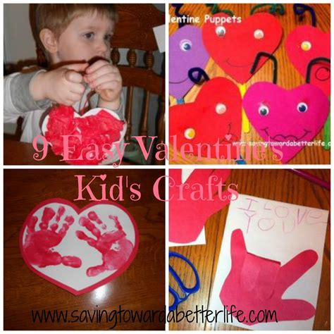 9 Easy Valentine Kid Crafts  Saving Toward A Better Life