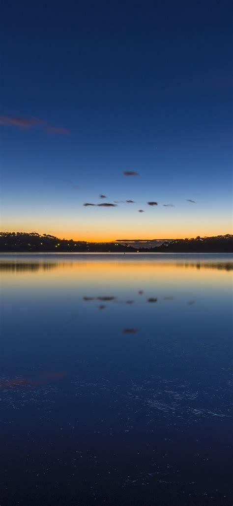 nature lake sunset landscapehd hd wallpaper