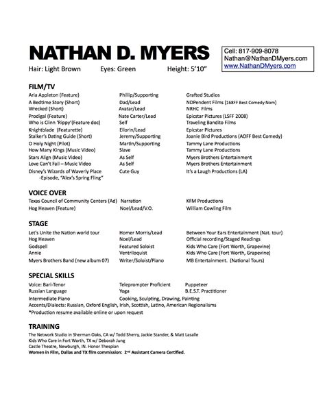 Resume And Headshot On Top by Headshots Resumes Nathandmyers