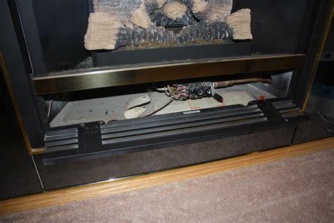 minimalist metal fireplace insert fresh air venting