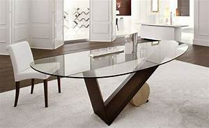 Table à Manger En Verre : table en verre design salle a manger table de sejour ronde maisonjoffrois ~ Teatrodelosmanantiales.com Idées de Décoration