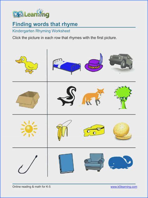 k5 learning worksheets mychaume 905 | free preschool amp kindergarten rhyming worksheets printable image below k5 learning worksheets of k5 learning worksheets