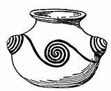 Jar Pottery Clipart Clip Pueblo Fire Sketch Cliparts Spirals Library Etc Medium sketch template