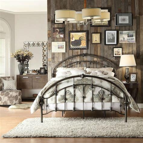 d o vintage chambre déco chambre lit fer forge