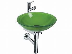 Waschbecken Glas Rund : waschbecken glas gr n rund inkl zubeh r sale ebay ~ Markanthonyermac.com Haus und Dekorationen