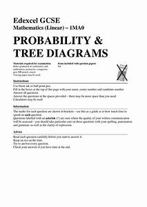 33 Probability Tree Diagrams By Mr Burgess