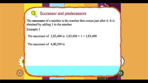 explore math class  unit   successor