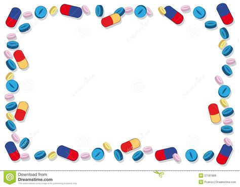 a frame plans coloured pills frame royalty free stock images image