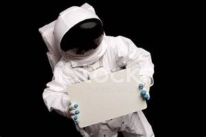 Astronaut Hold A Blank Sign Stock Photos - FreeImages.com