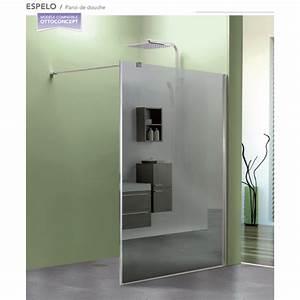 paroi de douche fixe espelo avec verre miroir robinet With miroir de douche