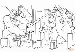 Printable Godzilla Coloring Pages - Coloring Home