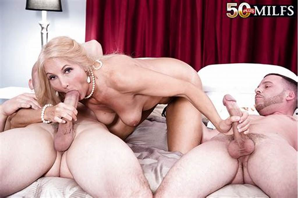 #Over #50 #Blonde #Cougar #Chery #Leigh #Blowing #Two #Cocks #In #Mmf