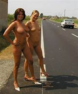 Nude girls on the road pics