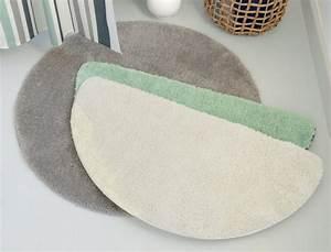 tapis de bain demi lune mer baltique linvosges With tapis de bain demi lune