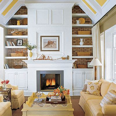 Living Room With Fireplace And Bookshelves by Fireplace Built Ins Cottage Living Room