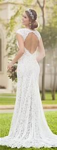 best simple lace wedding dress ideas on pinterest pretty With lace wedding dresses pinterest