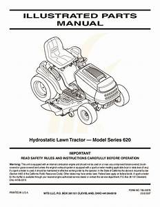 Mtd 620 Hydrostatic Lawn Tractor Mower Parts List