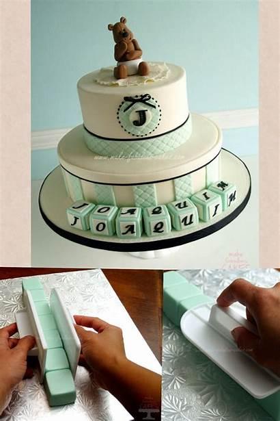 Baptism Cake Boy Cakes Christening Fondant Cupcake