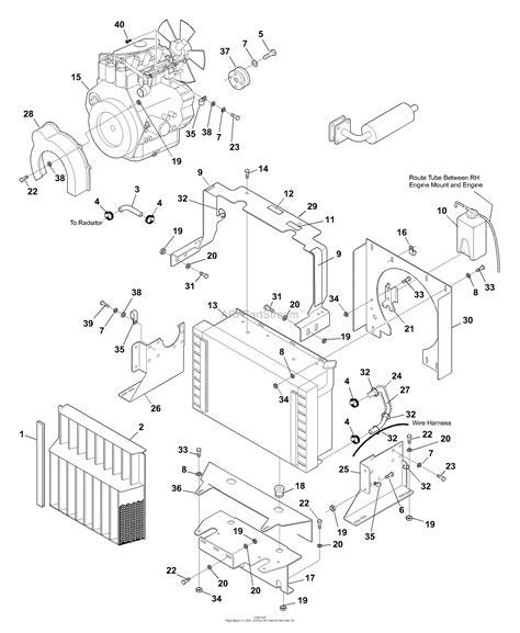 bunton bobcat ryan  bzt   turn riding mower parts diagram  engine components