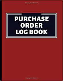 purchase order log book order tracker  corporate
