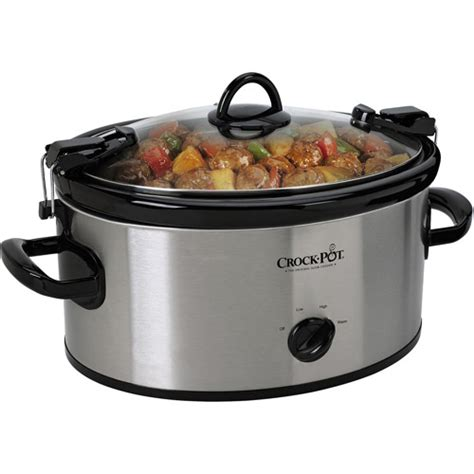 rival 6 quart crock pot cooker ss 6qt oval cooker walmart