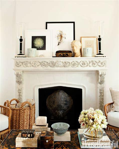 Styling Secrets  Rock  Fireplace Mantel Decor