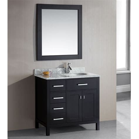 london   single sink espresso  drawer vanity set