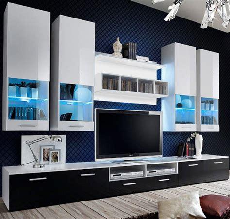 mueble de salon arlesa blanco  negro