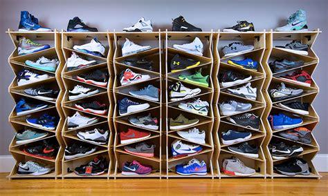 display shelving ideas sole stacks redefine sneaker storage