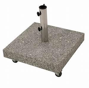 Schirmständer 50 Kg : schirmst nder granit schirmfuss granitst nder sonnenschirm 50kg mit rollen ~ Watch28wear.com Haus und Dekorationen
