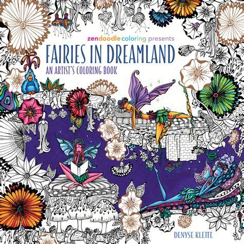 zendoodle coloring presents fairies  dreamland denyse