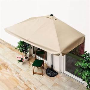 balkon sonnenschirm eckig beige von gartner potschke With französischer balkon mit aldi sonnenschirm rechteckig