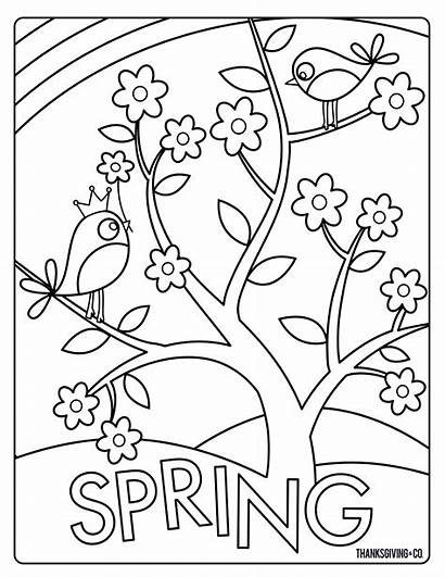 Coloring Spring Pages Easter Sunny Flowers Sweet