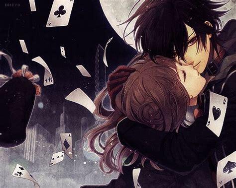 anime couple dark anime couple with cards anime couples pinterest