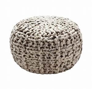 Gros Pouf Rond : pouf en tricot a vendre meuble de salon contemporain ~ Teatrodelosmanantiales.com Idées de Décoration